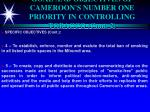 goal and objectives of cameroon s number one priority in controlling tobacco cont 2