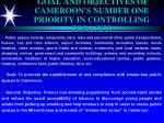 goal and objectives of cameroon s number one priority in controlling tobacco