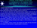 goal and objectives of cameroon s number two priority in controlling tobacco cont 1