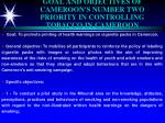 goal and objectives of cameroon s number two priority in controlling tobacco in cameroon
