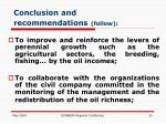 conclusion and recommendations follow15