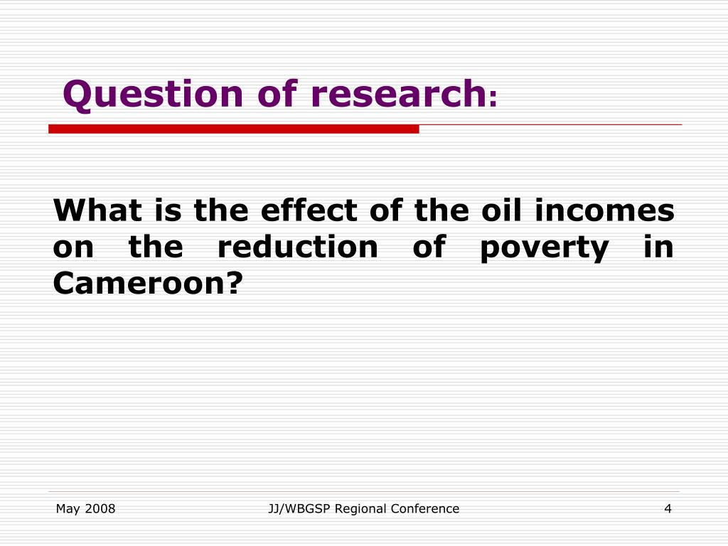 Question of research