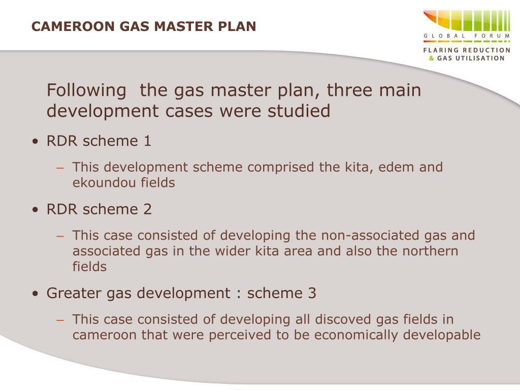 CAMEROON GAS MASTER PLAN
