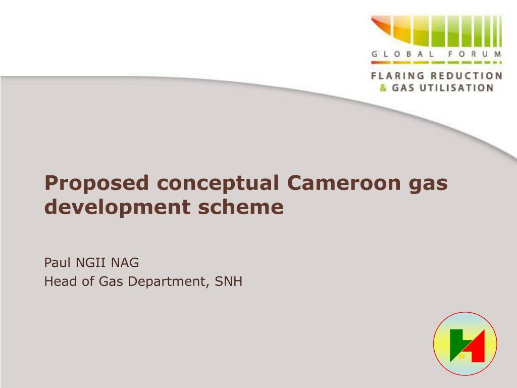 Proposed conceptual Cameroon gas