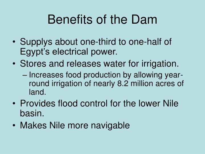 Benefits of the Dam