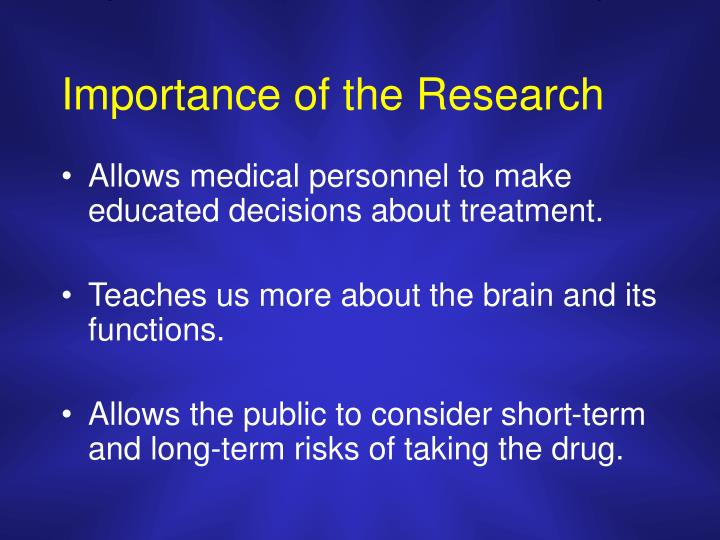 Importance of the research