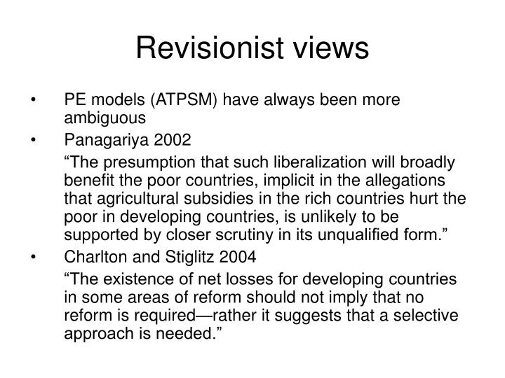 Revisionist views