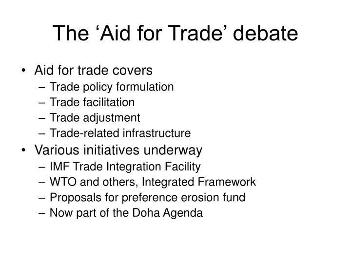 The 'Aid for Trade' debate