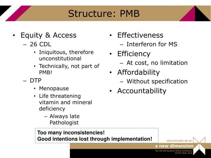 Structure: PMB