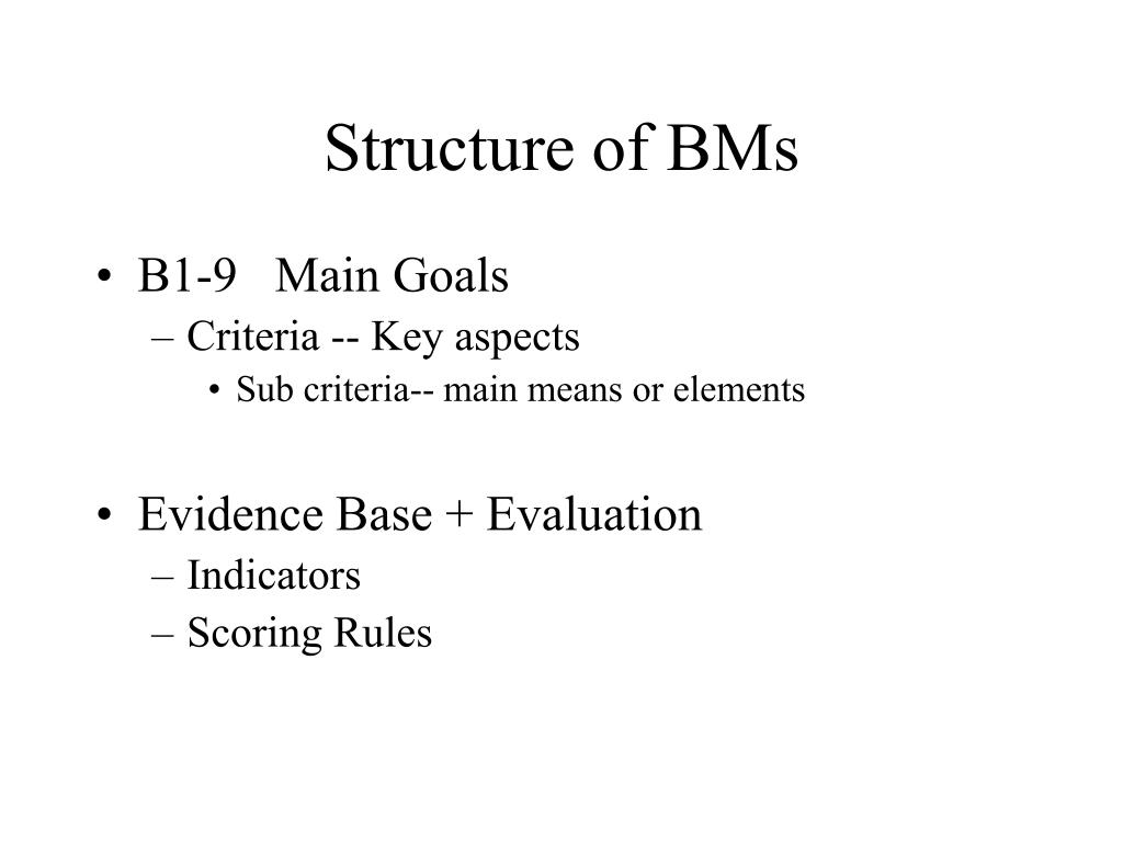 Structure of BMs
