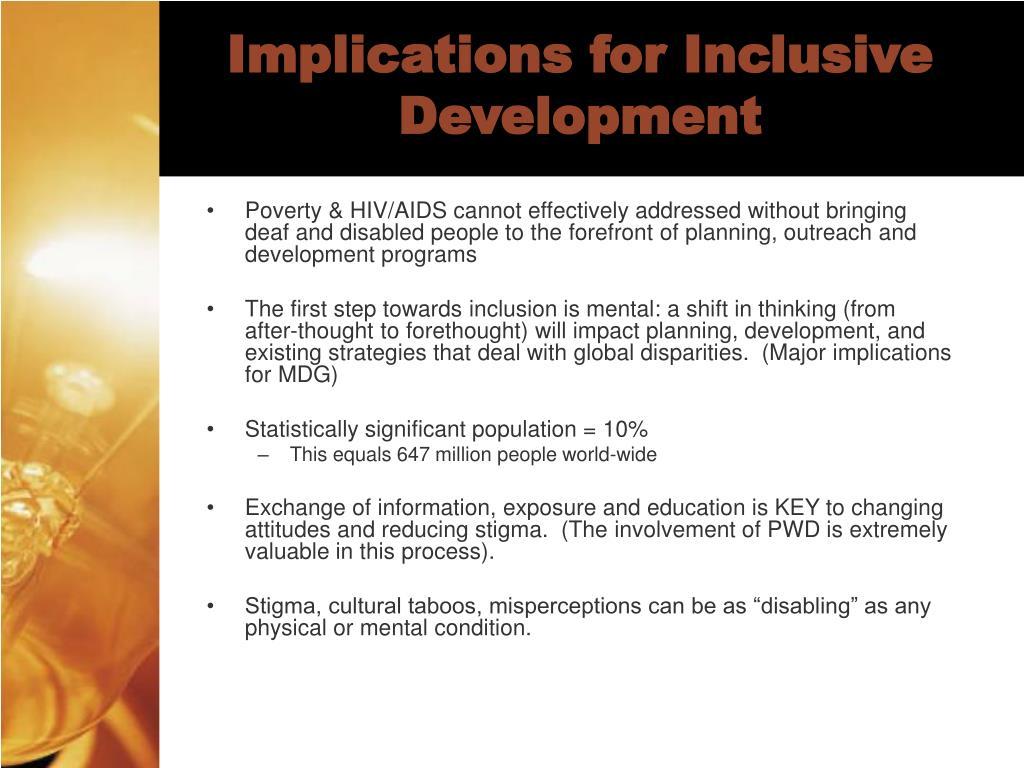 Implications for Inclusive Development
