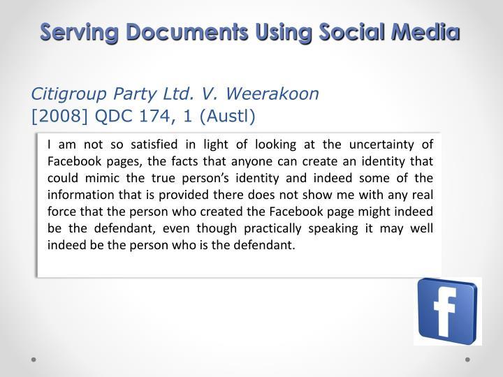 Serving Documents Using Social Media