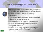 ifc s advantage vs other ifi s