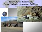 public private partnerships pamir hydroelectric plant in tajikistan