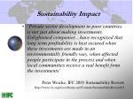 sustainability impact
