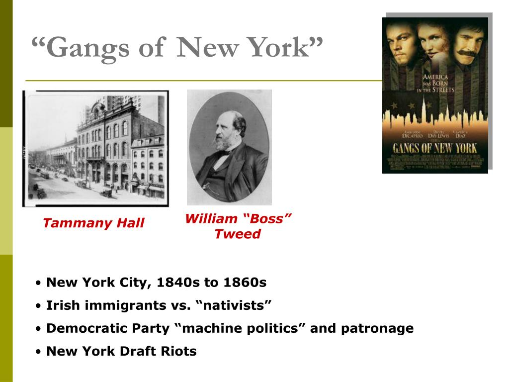 """Gangs of New York"""