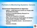 partners in monitoring systems canada