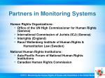 partners in monitoring systems