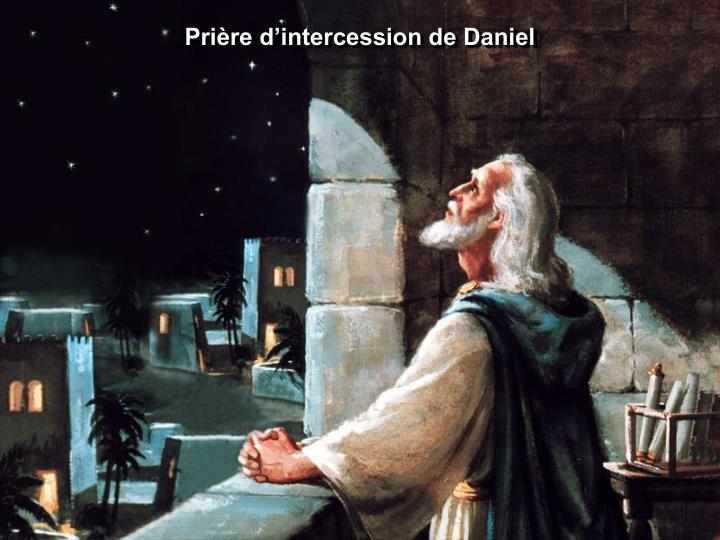 Prière d'intercession de Daniel