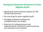 emerging carbapenem resistance in gram negative bacilli