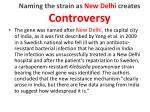 naming the strain as new delhi creates c ontroversy