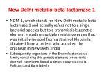 new delhi metallo beta lactamase 1
