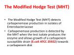 the modified hodge test mht