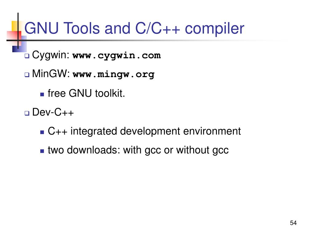 GNU Tools and C/C++ compiler