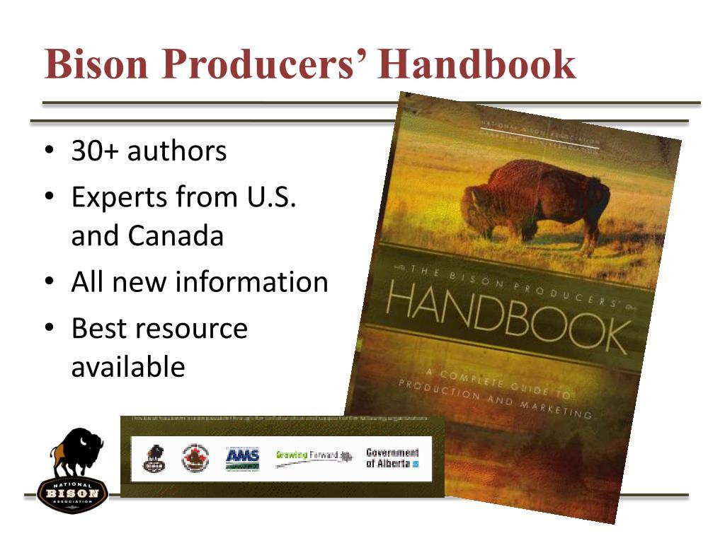 Bison Producers' Handbook