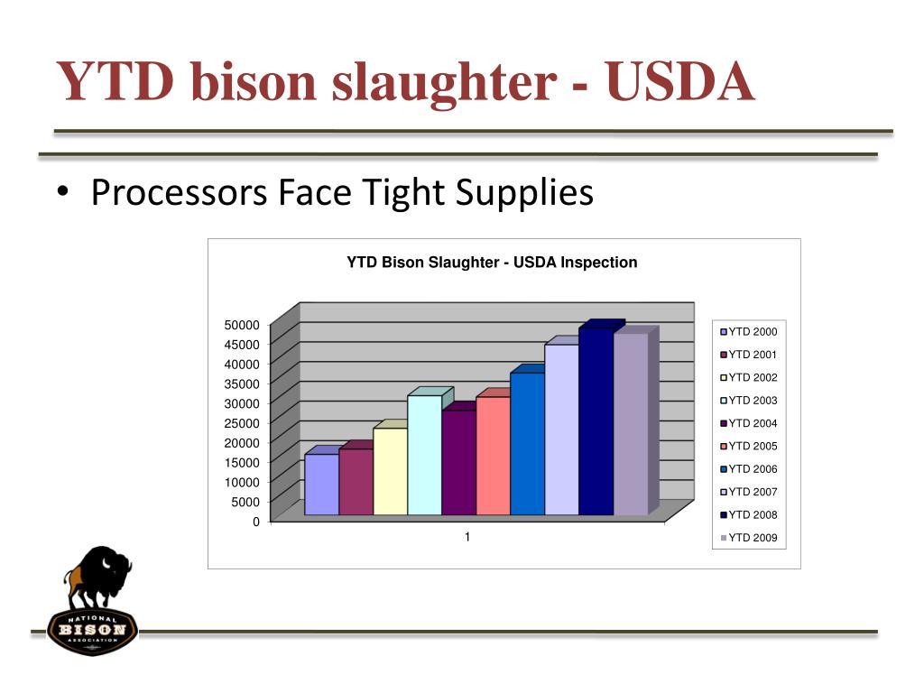 YTD bison slaughter - USDA
