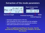 extraction of the mode parameters