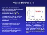 phase difference v v