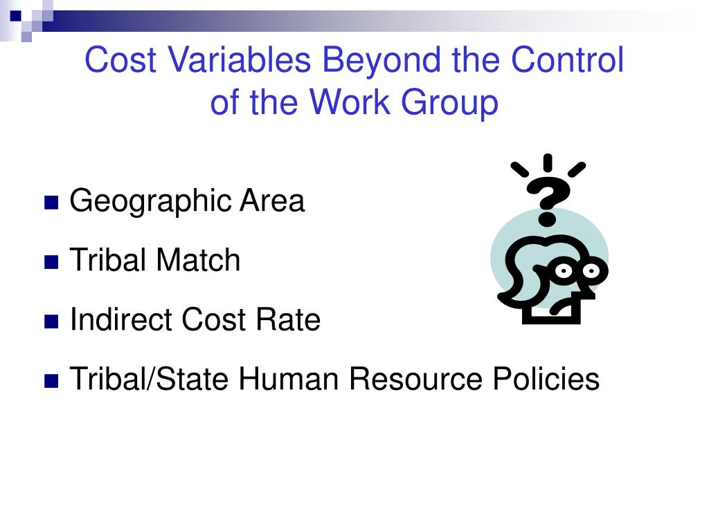 Cost Variables Beyond the Control