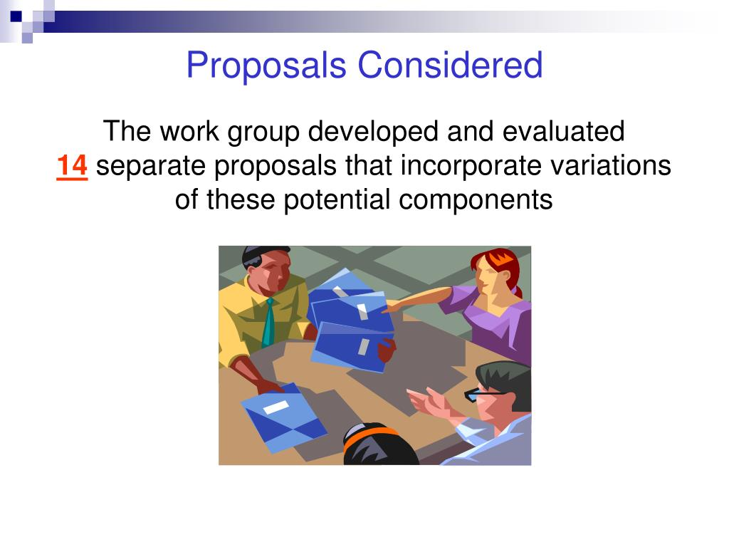 Proposals Considered