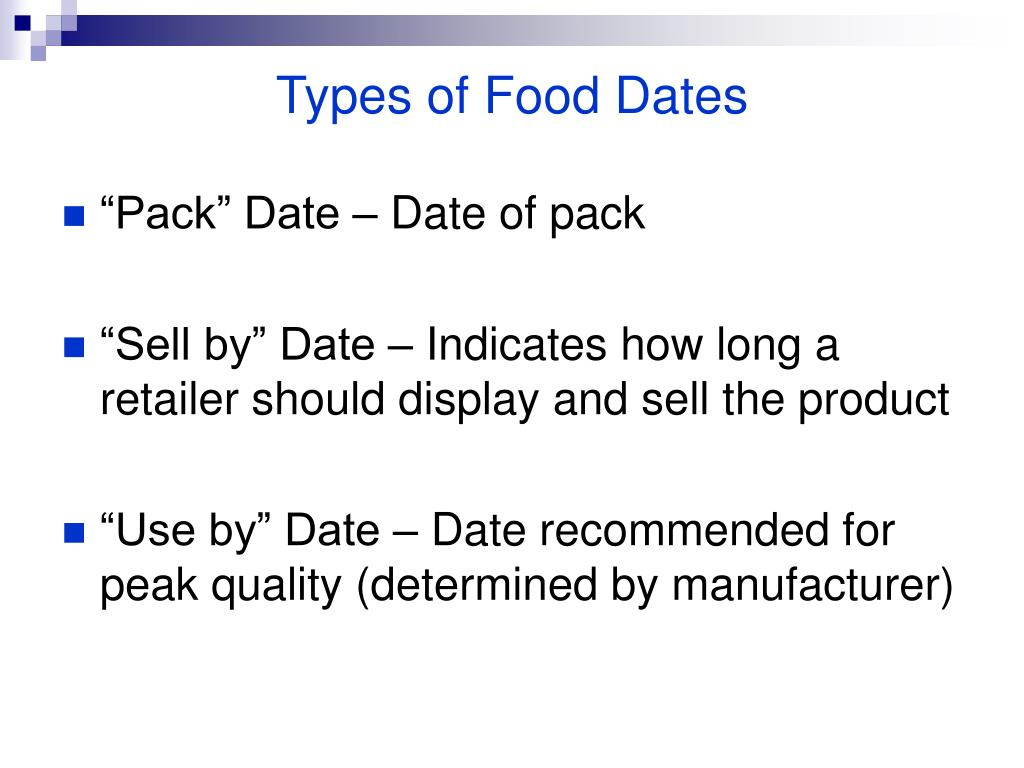 Types of Food Dates