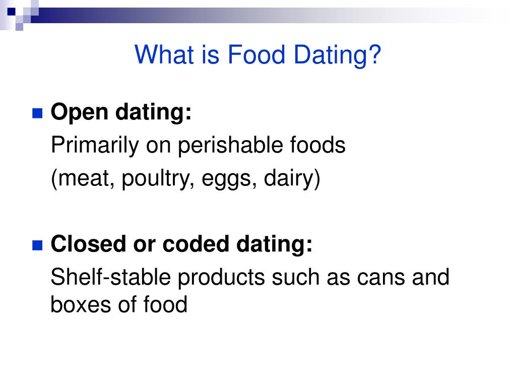 What is Food Dating?
