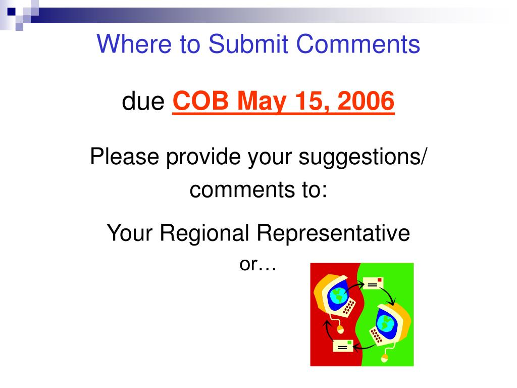 Where to Submit Comments