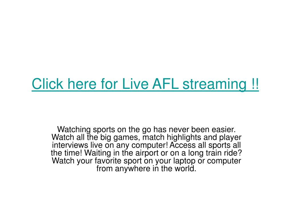 click here for live afl streaming l.