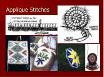 applique stitches