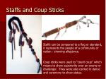 staffs and coup sticks