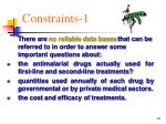 constraints 1