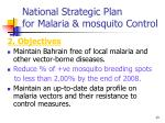 national strategic plan for malaria mosquito control13