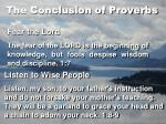 the conclusion of proverbs