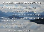 the language of proverbs