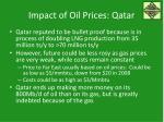 impact of oil prices qatar