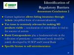 identification of regulatory barriers assessment conclusions 2