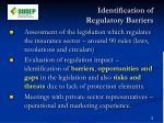 identification of regulatory barriers
