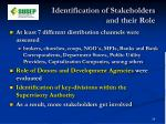 identification of stakeholders and their role1