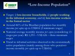 low income population1