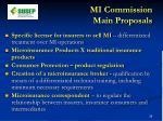 mi commission main proposals